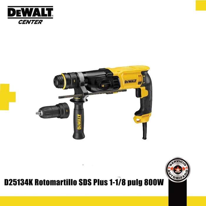 D25134K ROTOMARTILLO SDS PLUS 1-1/8 PULG 800W 3 MODOS