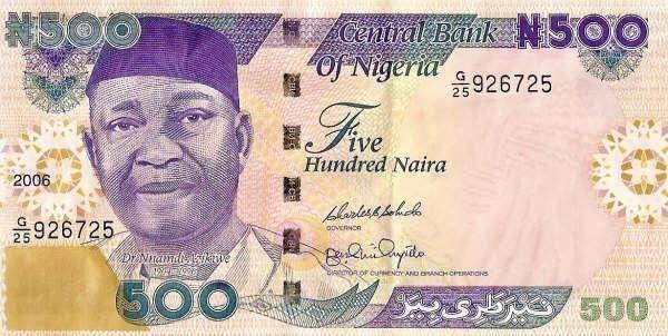 Naira Nigeriana 18000