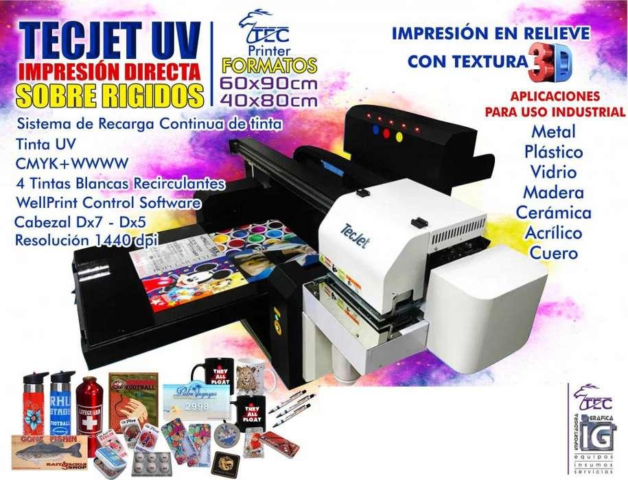 Exclusiva TECJET UV Impresion directa sobre rigidos