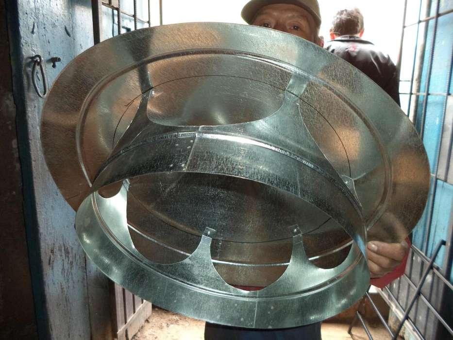 accesorios para ductos de extraccion de humo y gases