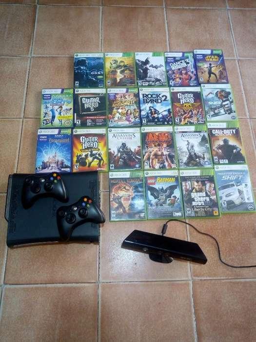 Xbox 360 2 Controles 21 Juegos Original