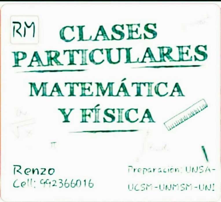 Clases Particulares de MATEMÁTICA, FÍSICA, RAZONAMIENTO Y QUÍMICA