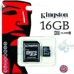 Memoria Microsd Kingston 16gb Clase 10 Uhsi 30mb/seg Original