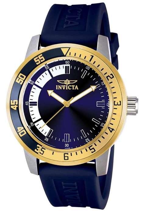Reloj Invicta 12847 Nuevo Original Bañado en oro 18 k