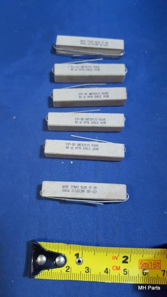 2 PCS Vintage 10 ohm 11? resistencia de potencia de cemento de cerámica axial de 10 vatios NOS