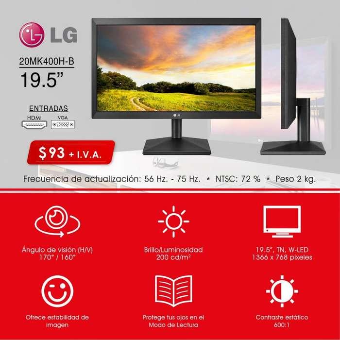 Monitor para pc dvr LG pantalla lg 19,5 pulgadas HDMI VGA monitor para CPU HD