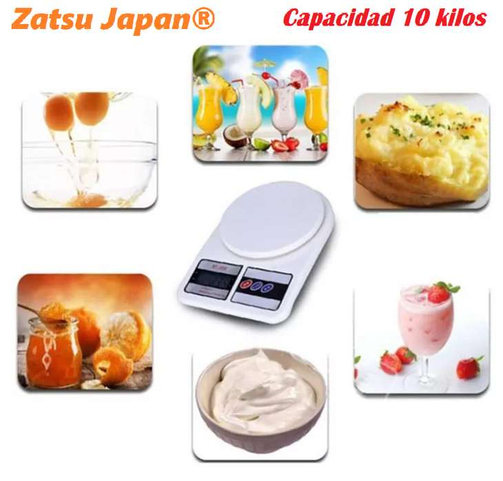 GRAMERA DIGITAL CAPACIDAD 10 Kg IMPORTADAS DOS BATERÍAS AA (NO INCLUIDAS)