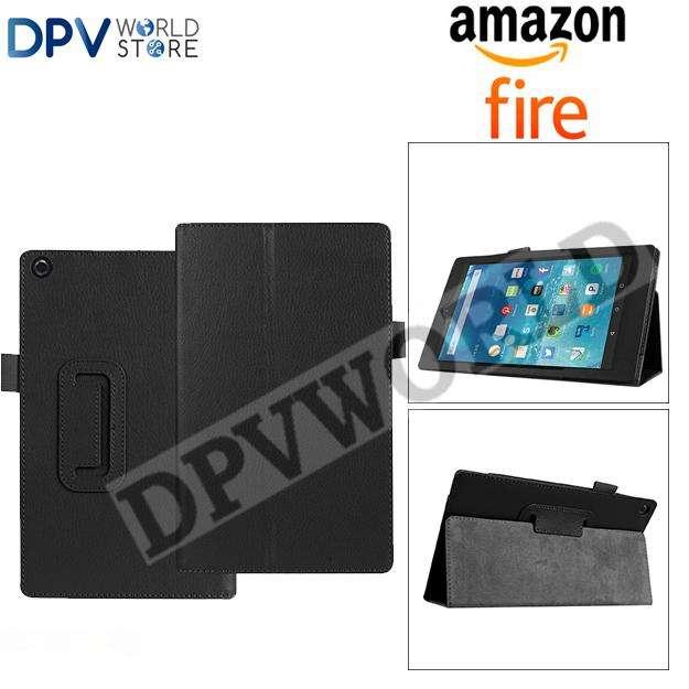 Estuche Cuero Amazon Fire Hd 8 Fire Hd 7 Elegante Tipo Agend