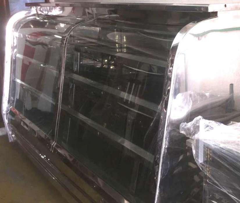Exhibidora refrigeradora con bodega