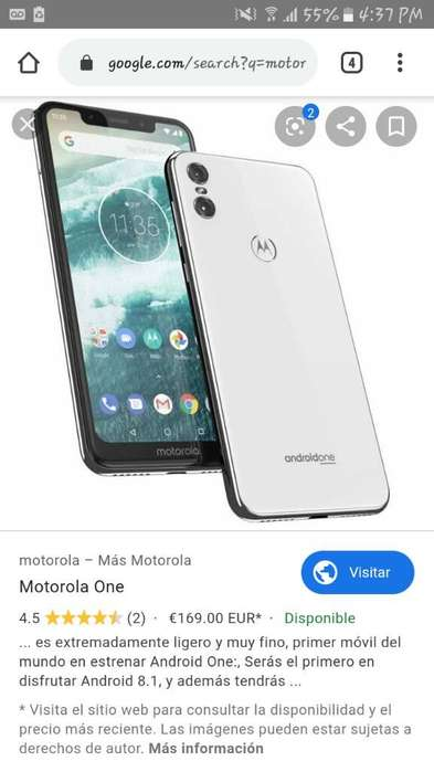 Vendo Motorola One.. de 64gb.. 360000