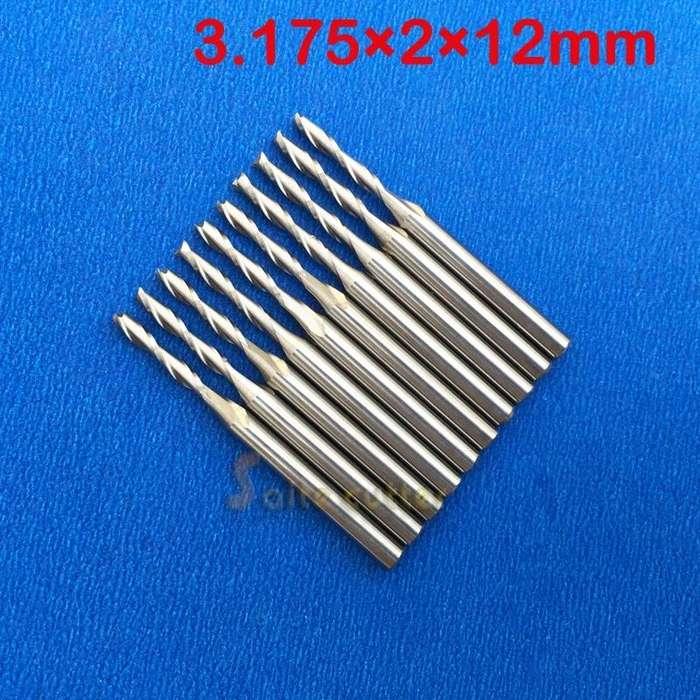 Fresa Recta 3.175 X 2 X 12 mm 2 Filos