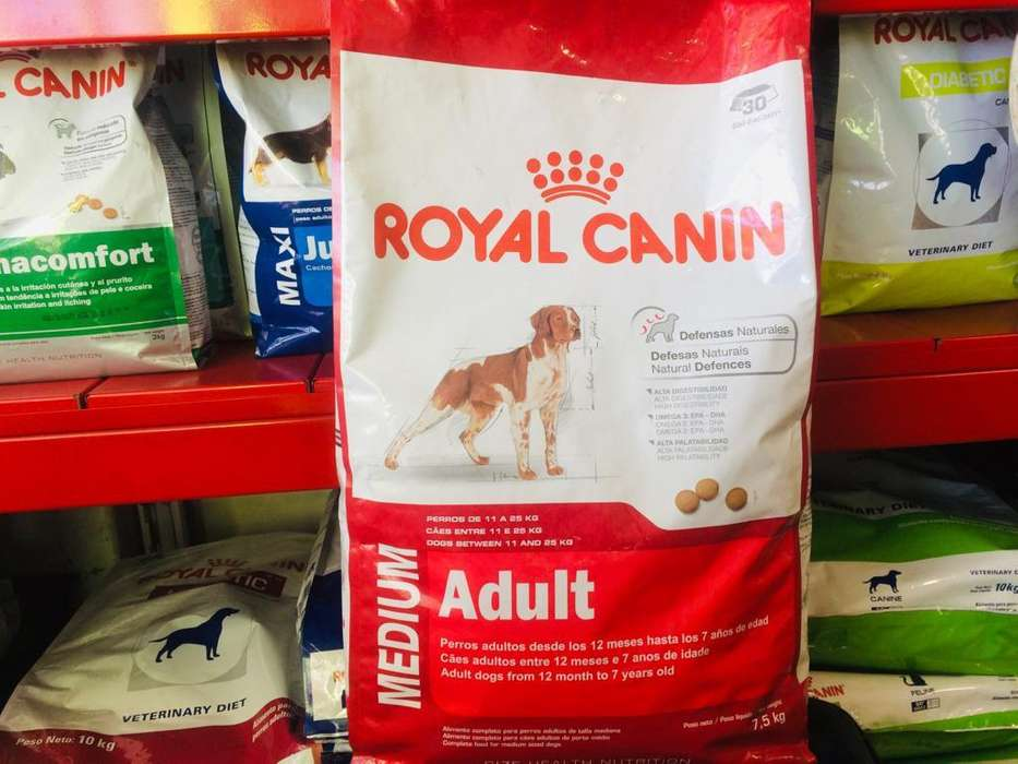 royal canin medium adulto x 7.5kg envio gratis zona alta cba.