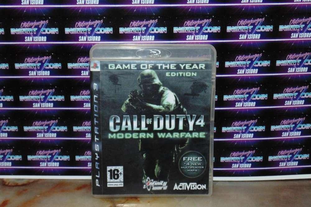 Call of Duty 4 modern warfare PS3 Juego Play Station 3