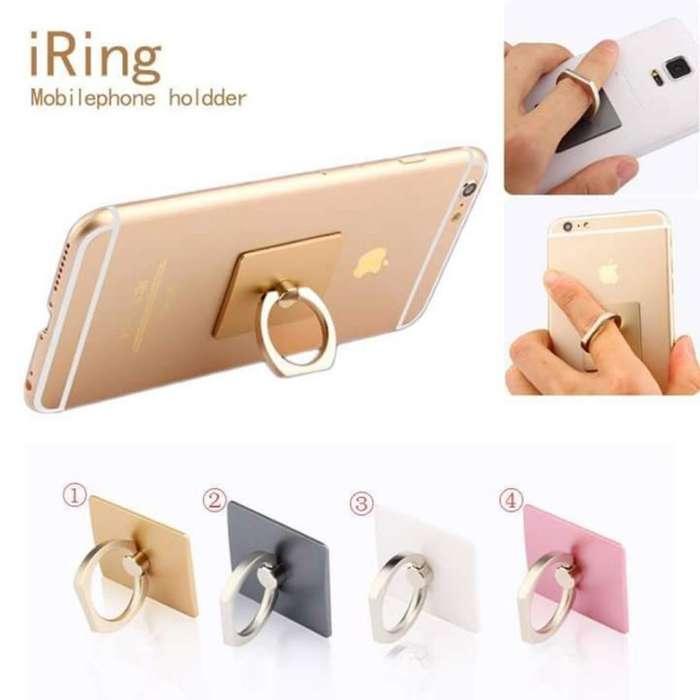 Soporte anillo de seguridad para celular.