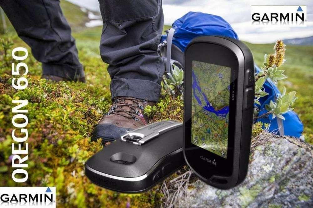 GPS GARMIN OREGON 650, cámara de 8mp con GEOREFERENCIA, NUEVO en TIENDA