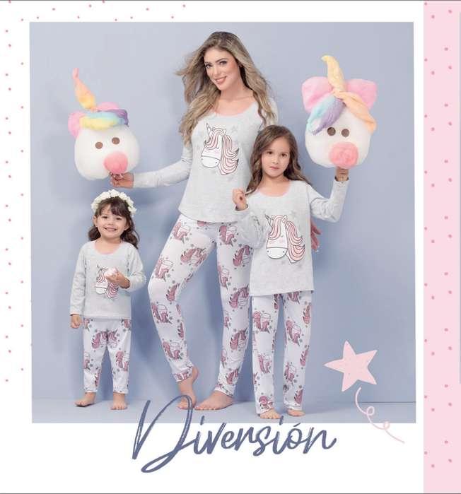 pijama térmica para mama e hija set x 2
