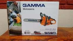MOTOSIERRA 16 GAMMA MOTOR DE 1.6 HP ESPADA DE 40cm EL MEJOR PRECIO