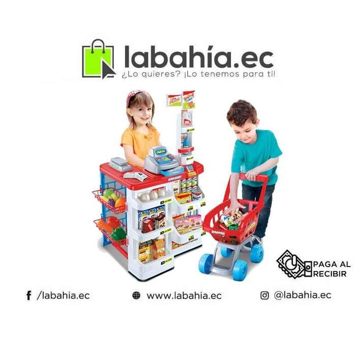 Kit Completo Juguete Supermercado Para Niños