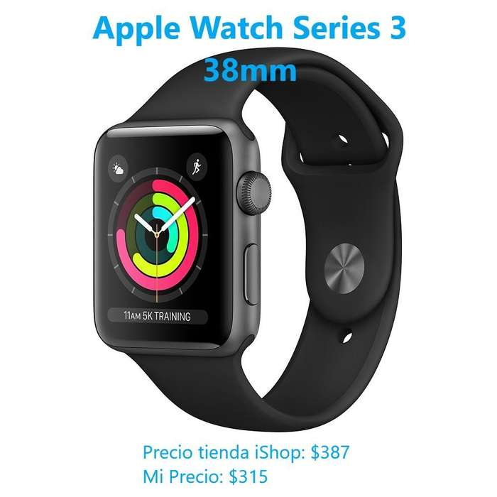 Apple Watch Series 3 de 38mm Negro - Nuevo