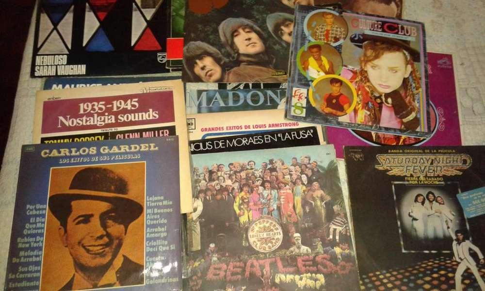 Discos de Vinilo varios BeatlesMadonnaGardelJazz