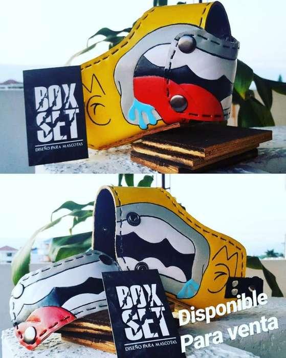 Bozal Bifunción Box Set Tapa Removible Para Perro