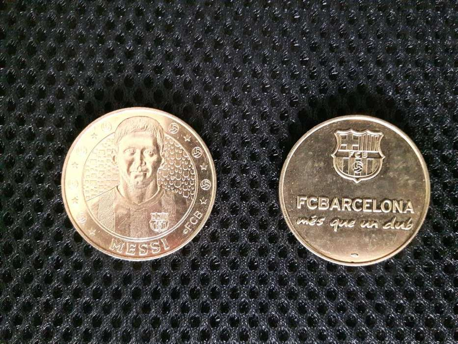 MONEDA ORIGINAL DE MESSI FC BARCELONA