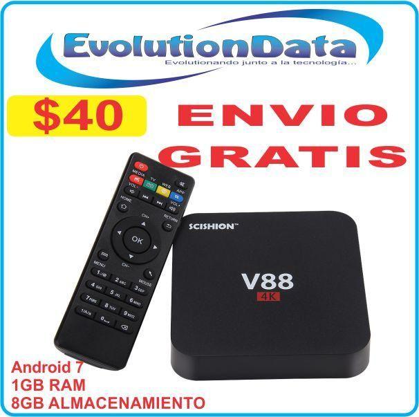 TV V88 ENVIO GRATIS 1GB RAM 8GB Almacenamiento Android 7 Smart TV