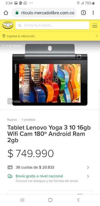 Vendo Tablet Yoga 3 Camara Rotatoria