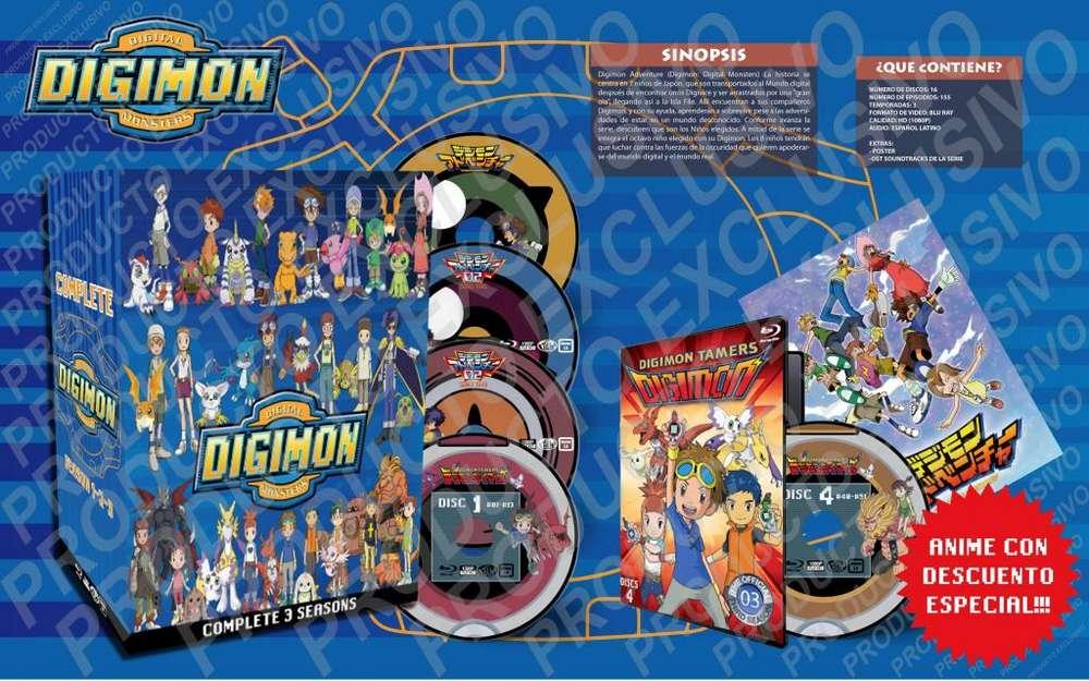Anime Digimon Adventure 1 2 3 Serie Completa Hd Latino