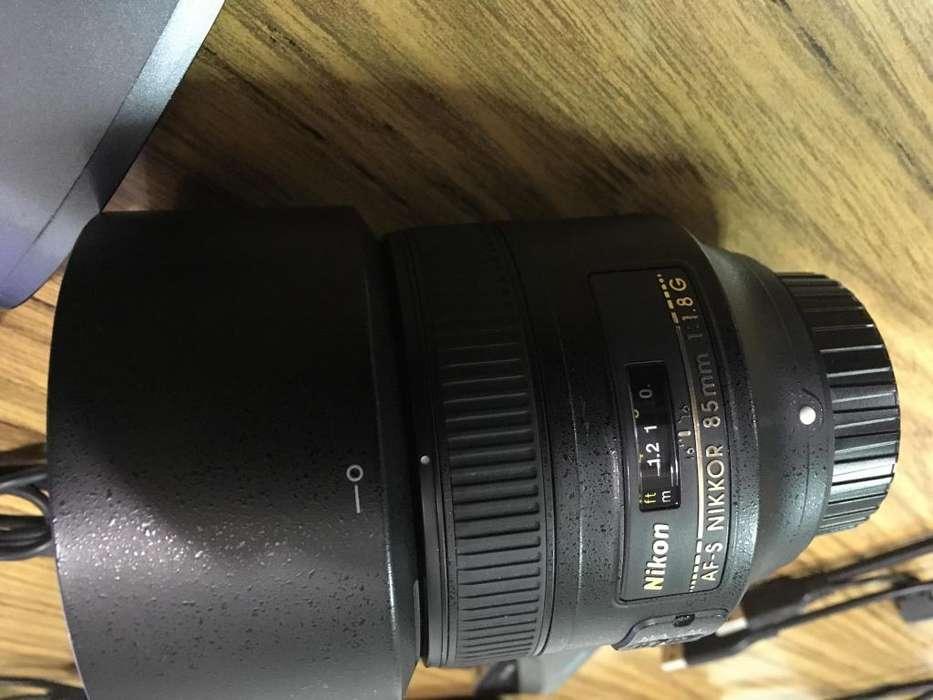 lente Nikon 85 mm 1.8 G impecable 9.8/10