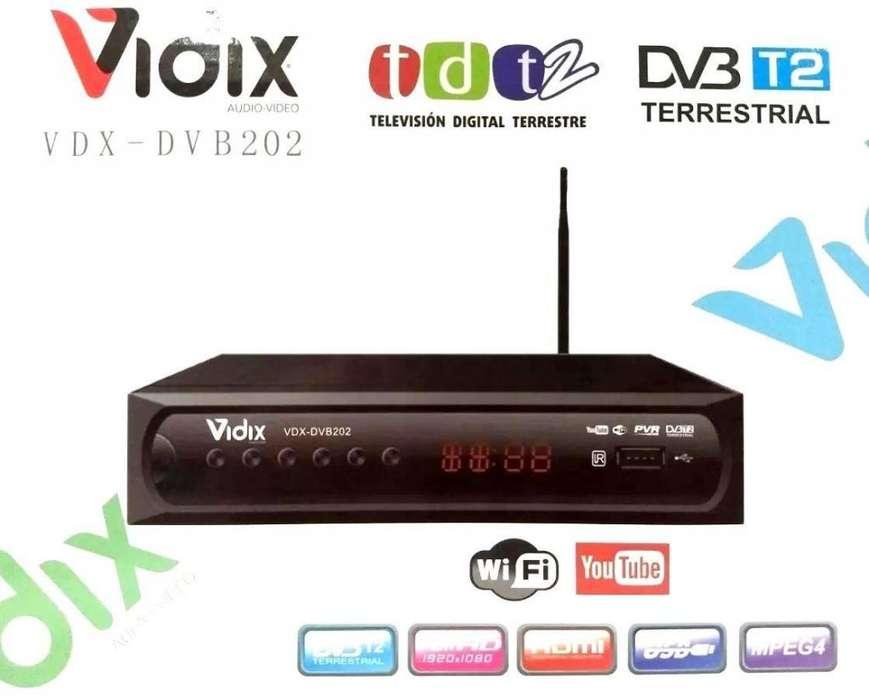 Decodificador TDT2 Vidix DVB202 con Youtube, Wifi y Antena
