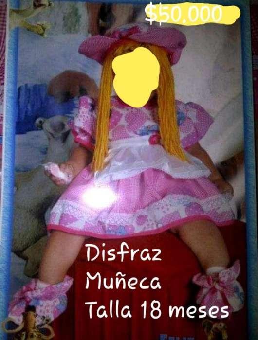 Disfraz Muñeca Niña 1 a 2 Años T-18-24