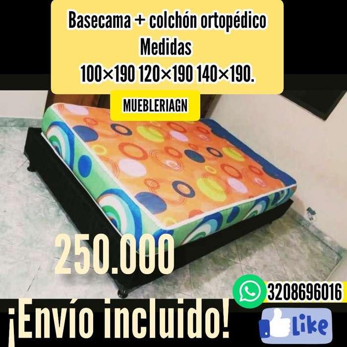 Colchon Y Base Cama 250 Envio Gratis
