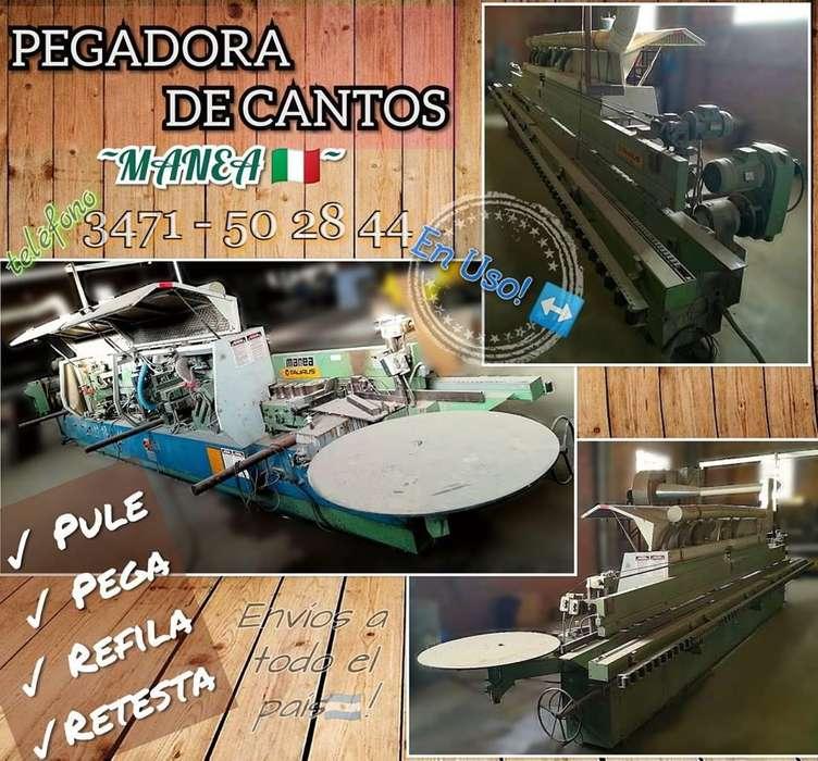 pegadora de cantos MANEA (máquinas de carpintería - fábrica de muebles - pegadora de filos)