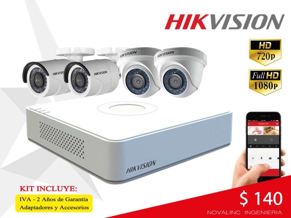 Kit 4 A 16 Camaras Seguridad Hikvision Hd 720p 1080p