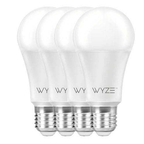 Pack Bombillas Focos Inteligentes Wyze Bulb 4-Pack remoto 9.5W dimerización