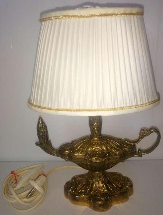 Decorative Arts LÁmpara De Aladino De LatÓn Pulido Funciona 2 Kg Lamps