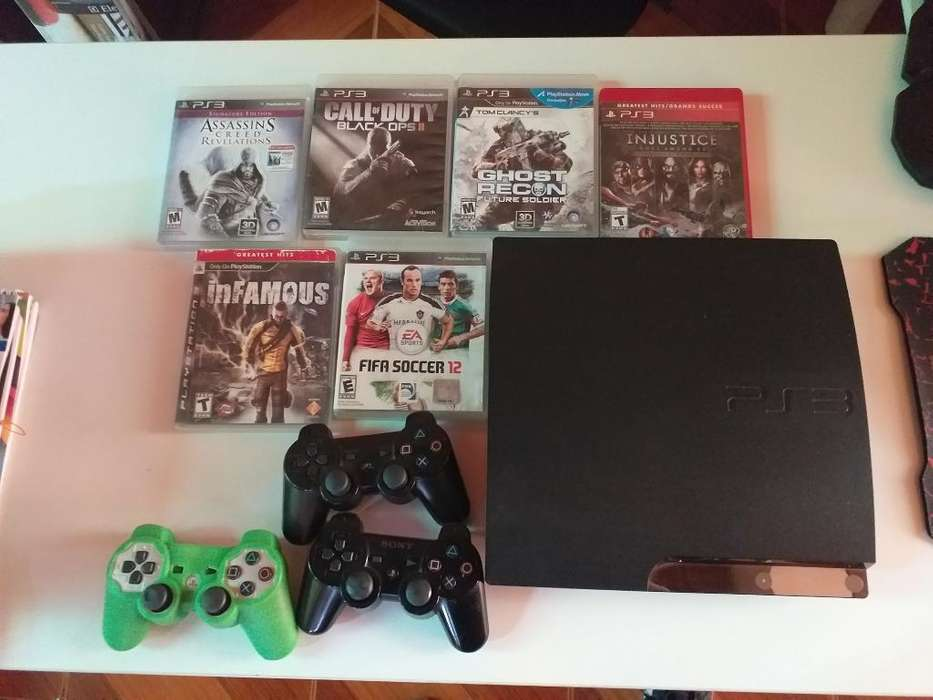 Play Station 3 Ps3 con 3 Palancas