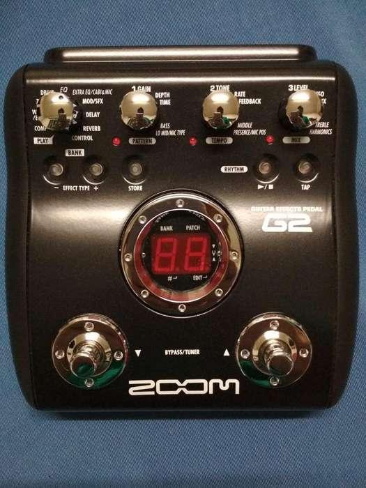 Zoom G2 Pedalera Multiefecto Guitarra Como Nuevo