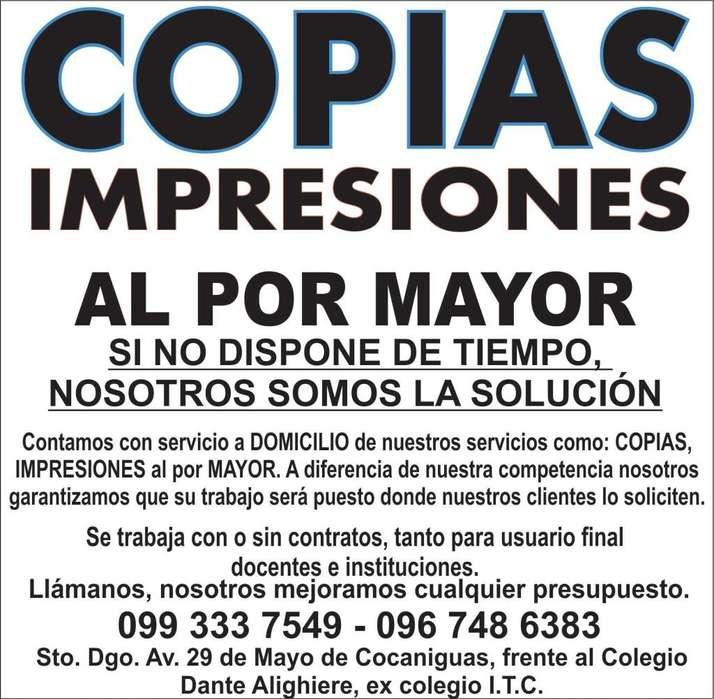 IMPRESIONES Y COPIAS AL X MAYOR