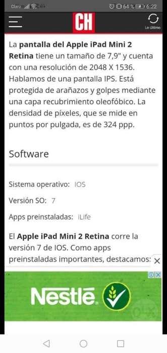 Vendo iPad Mini 2 Retina 32gigas