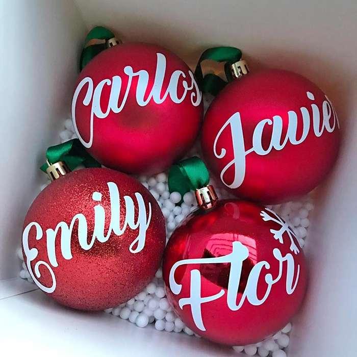 bolitas de navidad personalizadas