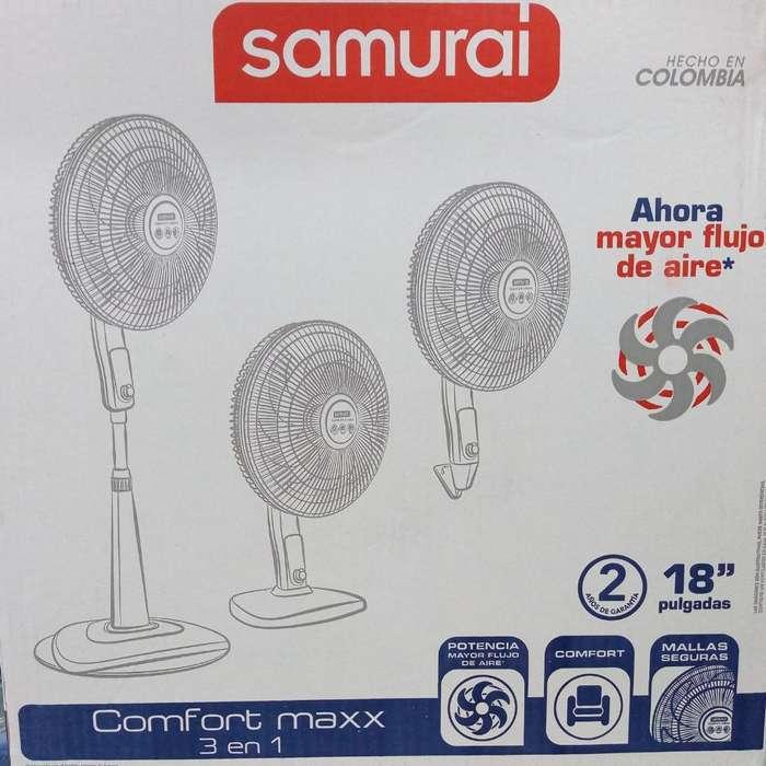 Samurai Tres en Uno Nuevos Ventilador