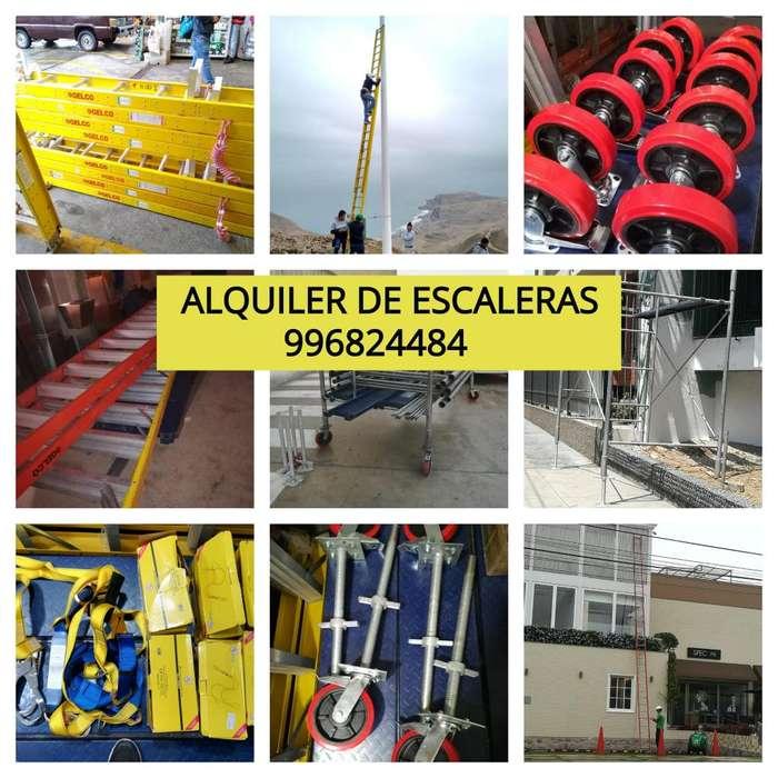 ALQUILER DE ESCALERAS TELESCOPICAS ALQUILER DE ESCALERAS TIJERA ALQUILER DE ANDAMIOS ACROW