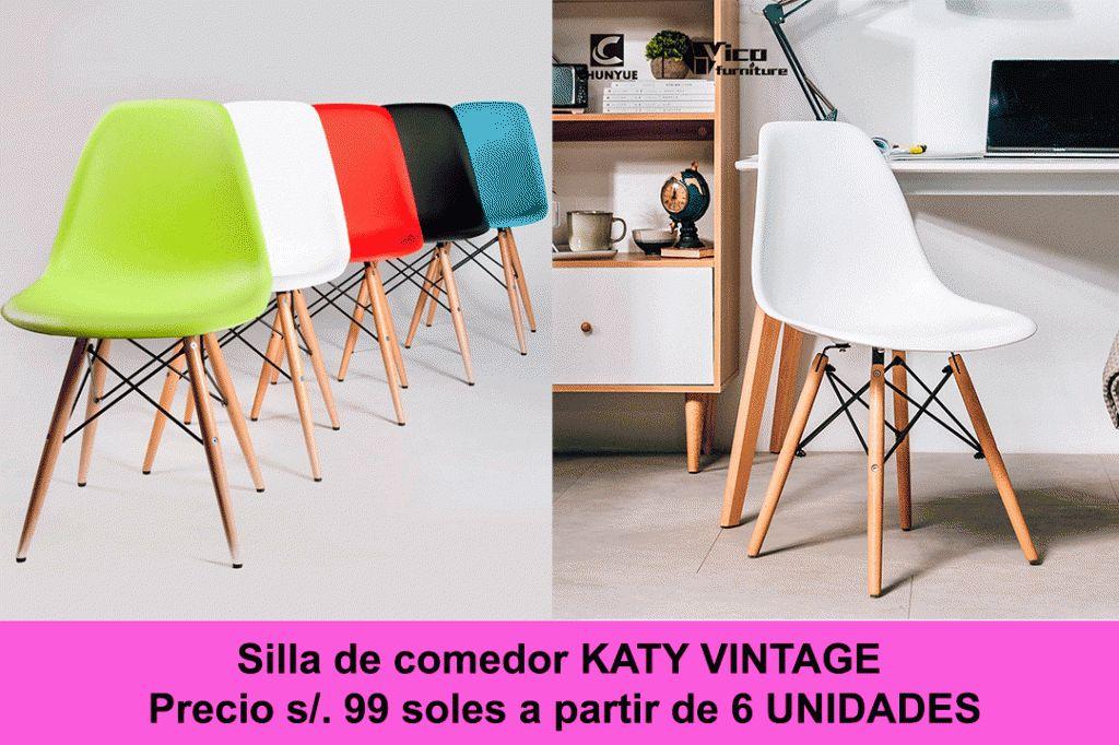 Sillas de comedor MODERNAS VINTAGE - Lima