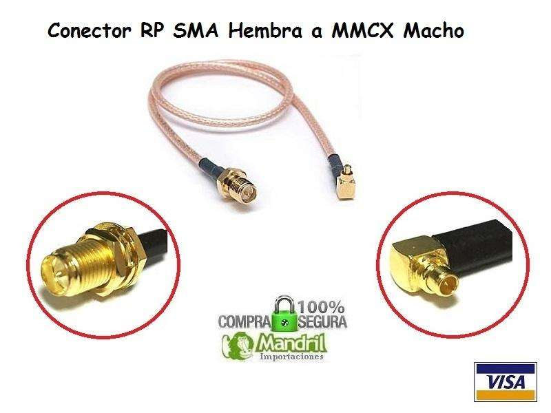 Cable Pigtail Rg316 Rp Sma Hembra A Macho Mmcx Red