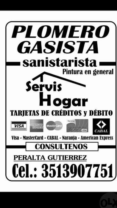 Gasista Plomero sin Demoras 3513907751