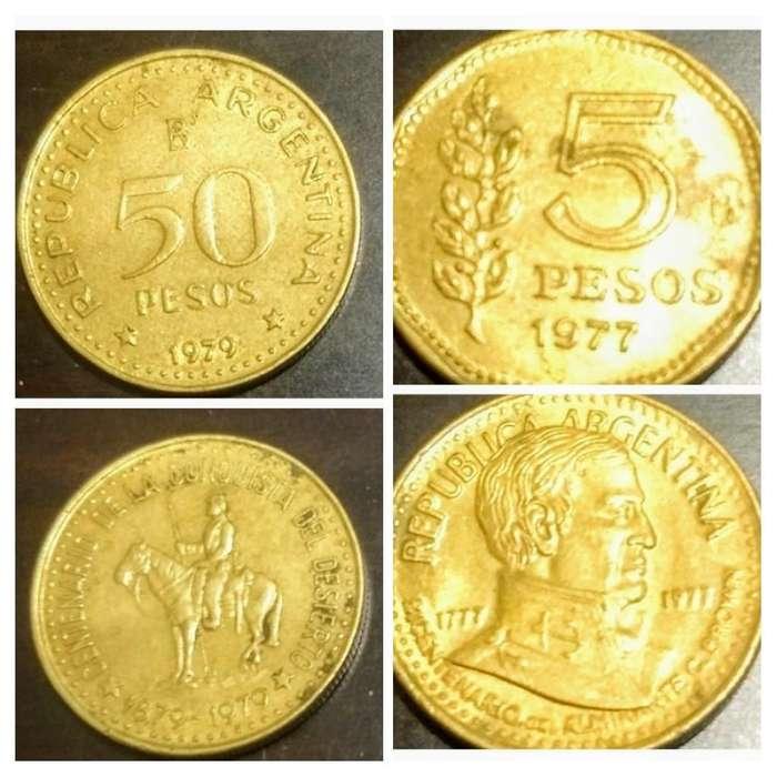 Moneda 5 Y 50 Pesos Ley Brown Y Desierto