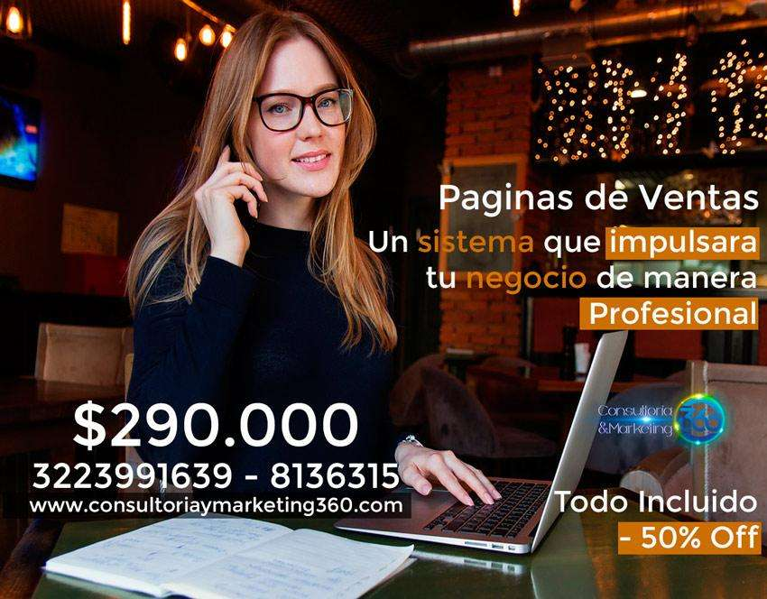 Página Web Administrable Profesional Todo Incluido, Posicionamiento, Marketing, Diseño Cel3223991639 chat videos redes
