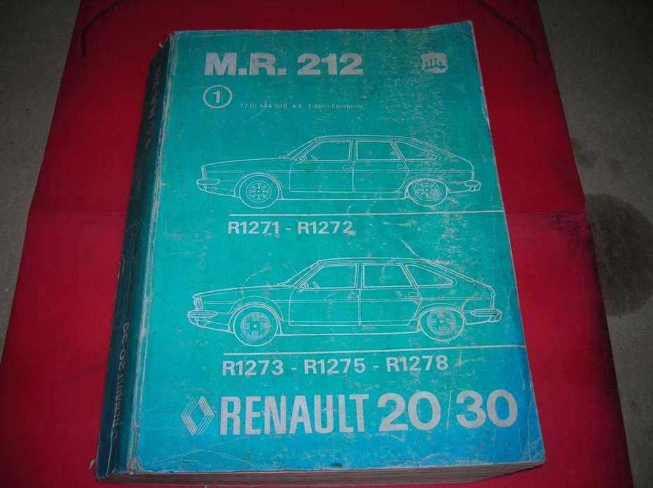 RENAULT 20 Y 30 MANUAL DE REPARACIONES